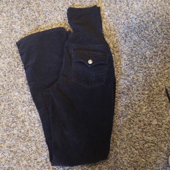 f4772ae2301d9 Oh Baby by Motherhood Pants | Black Full Panel Bootcut Maternity ...